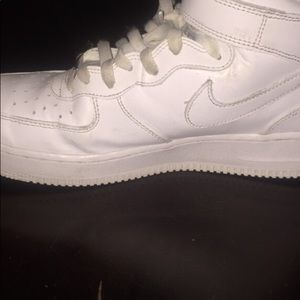 White Air Force ones mid